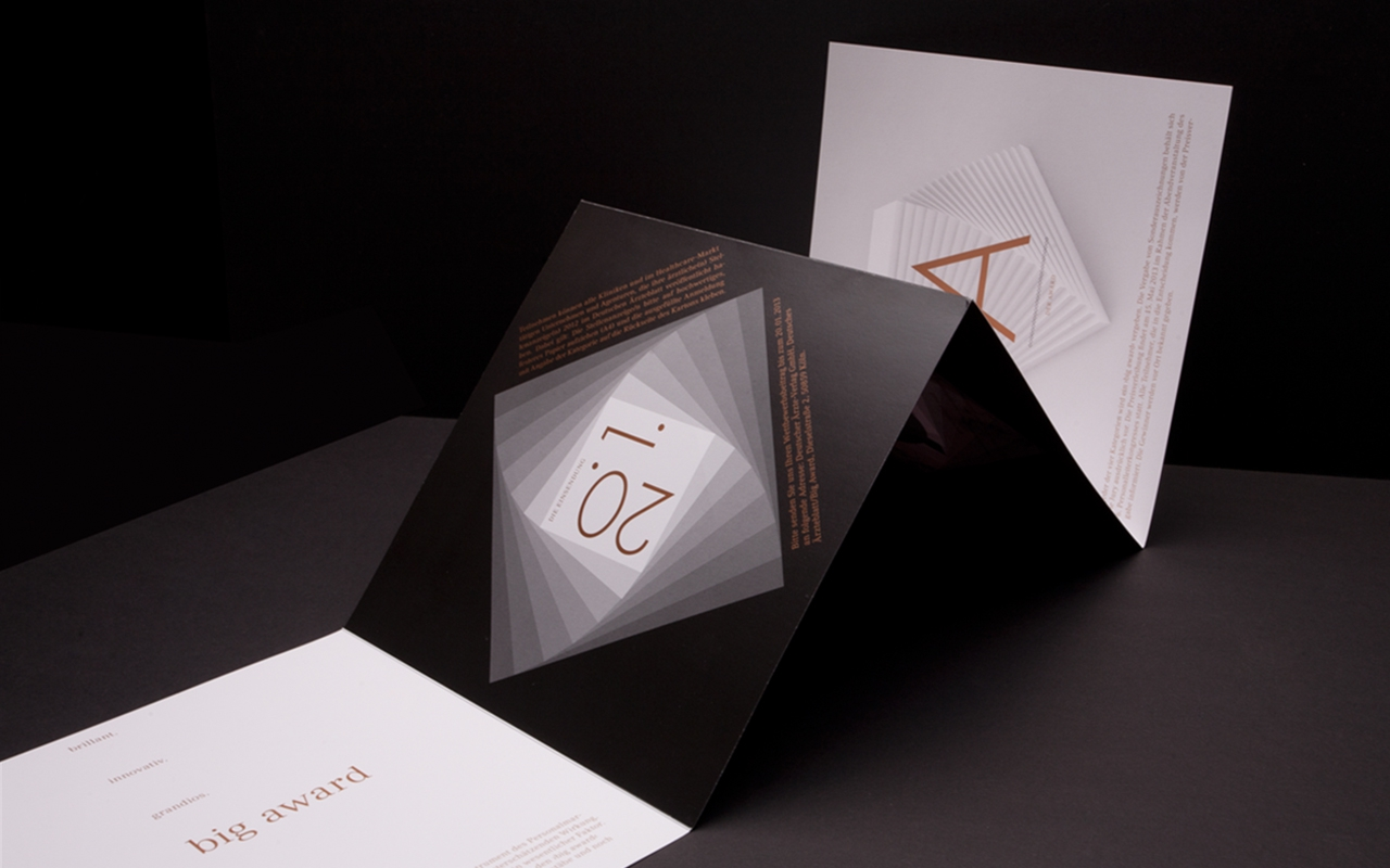 Designbüro Mittelsdorf Big Award → Brand Design, Booklet, Objektdesign