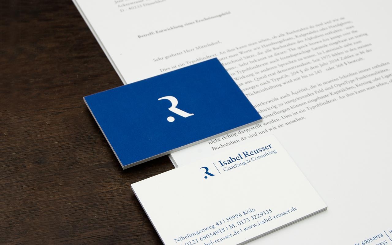 Jens Mittelsdorf - Büro für Gestaltung Isabel Reusser – Coaching & Consulting → Corporate Design, Geschäftspapiere, Informationsgrafik