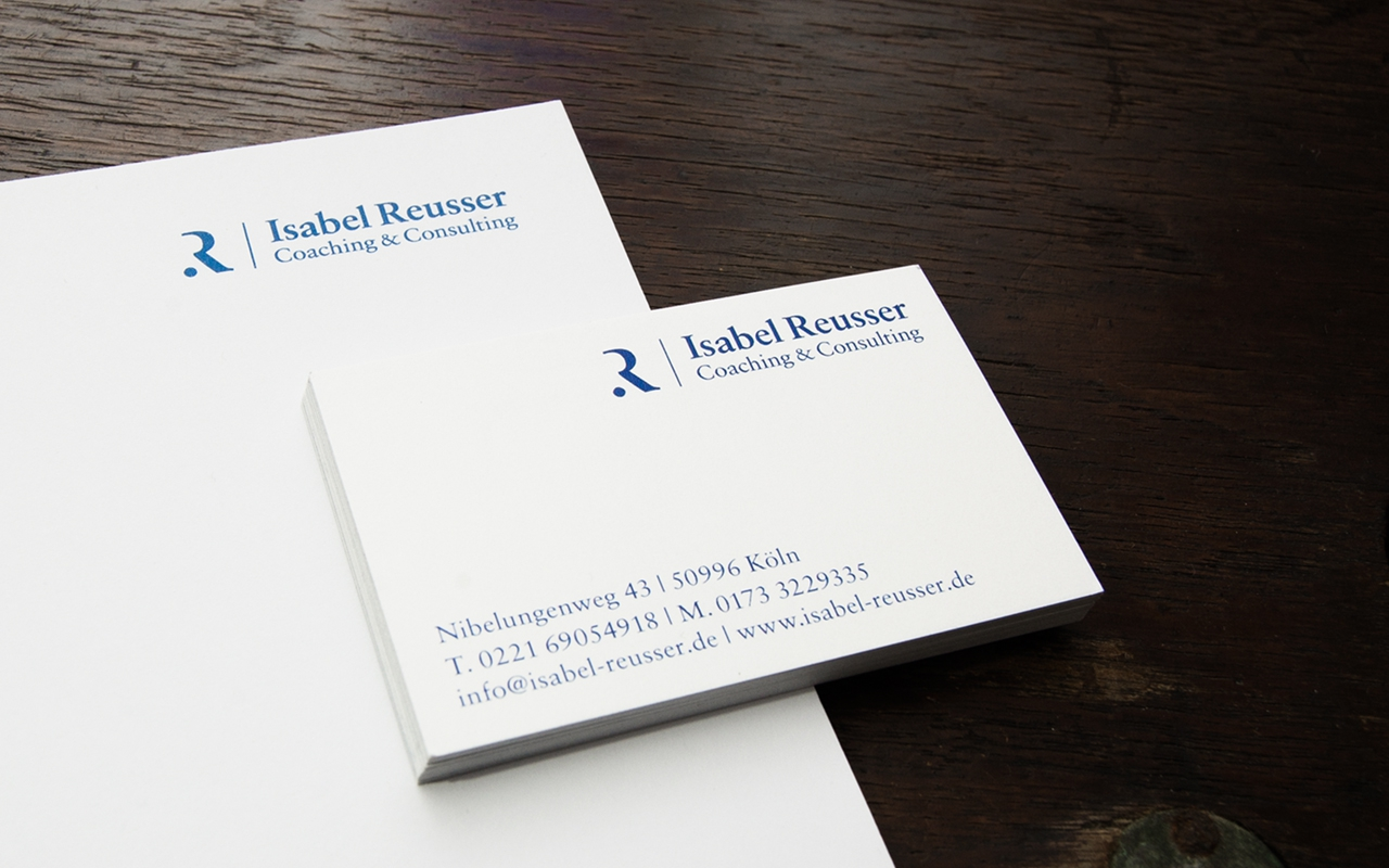 Jens Mittelsdorf Büro für Gestaltung Isabel Reusser – Coaching & Consulting → Corporate Identity, Geschäftspapiere, Informationsgrafiken