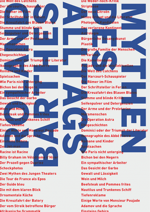 Jens Mittelsdorf Büro für Gestaltung Mythen des Alltags → Buchcover, Titelseite, Grafikdesign