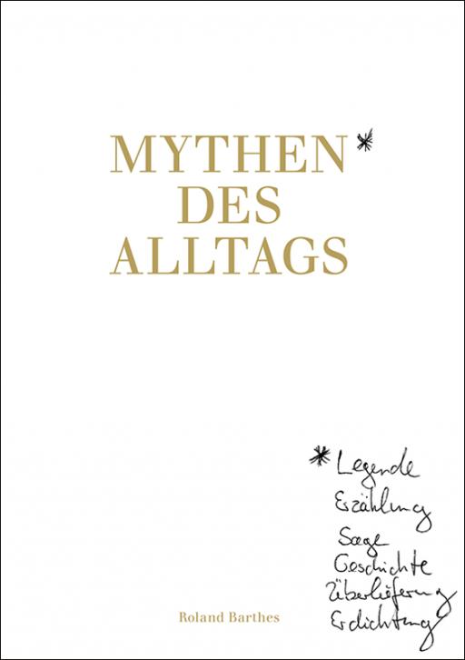 Designbüro Mittelsdorf Mythen des Alltags → Buchcover, Titelseite, Grafikdesign
