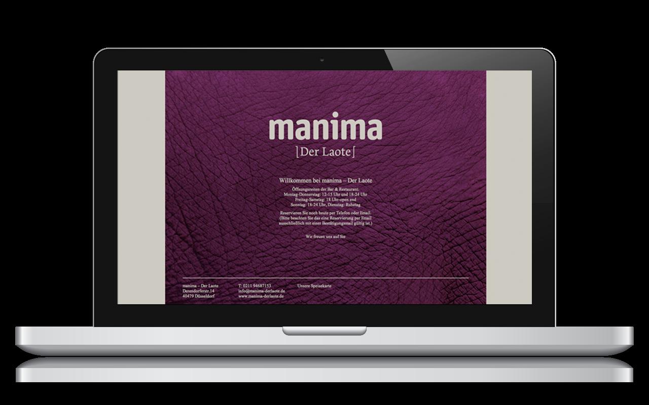 Jens Mittelsdorf Büro für Gestaltung Manima – Der Laote → Corporate Design, Geschäftspapiere, Flyer, Webseite