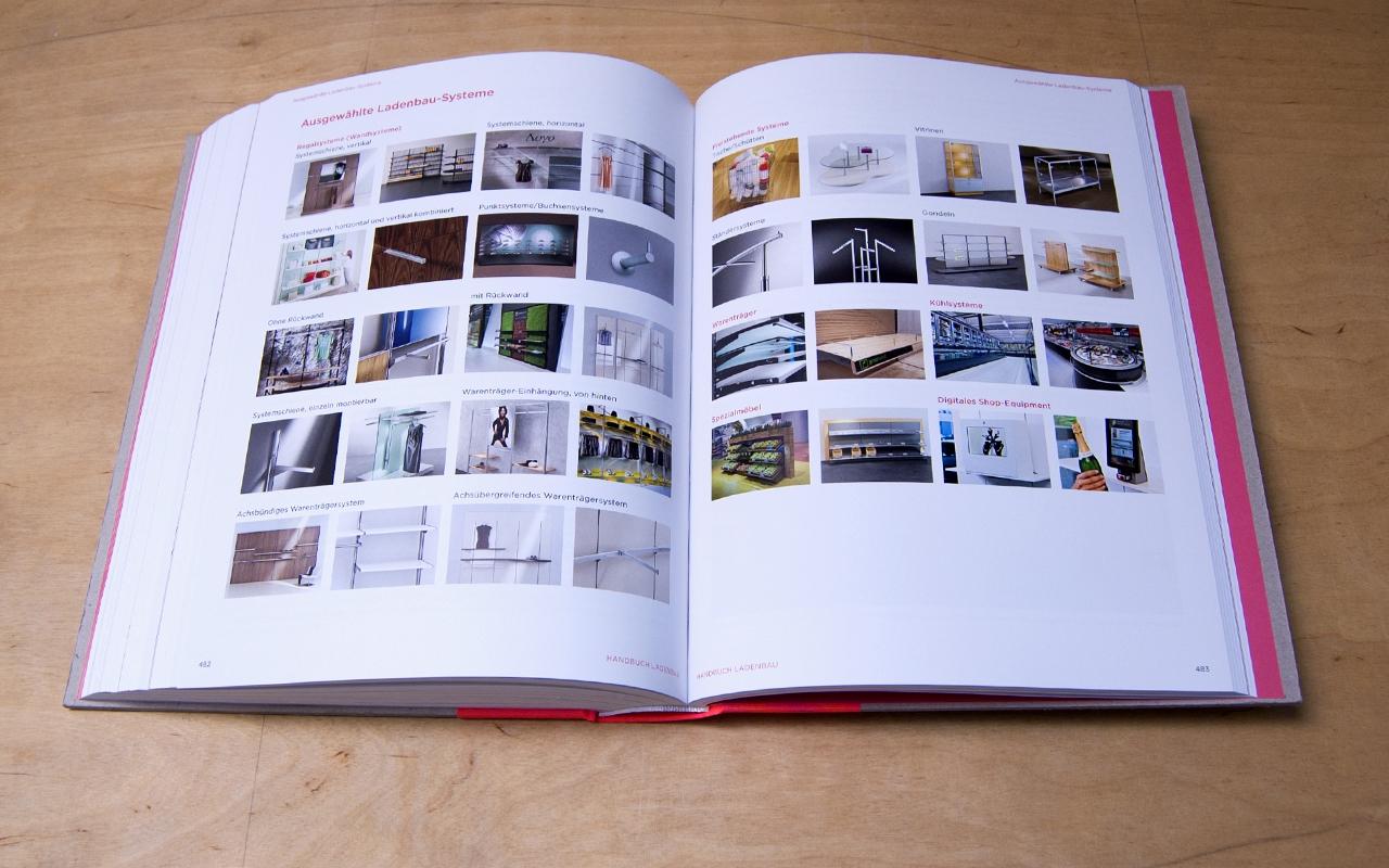 Jens Mittelsdorf Büro für Gestaltung Handbuch Ladenbau → Editorial Design, Cover, Informationsgrafiken, Buchgestaltung
