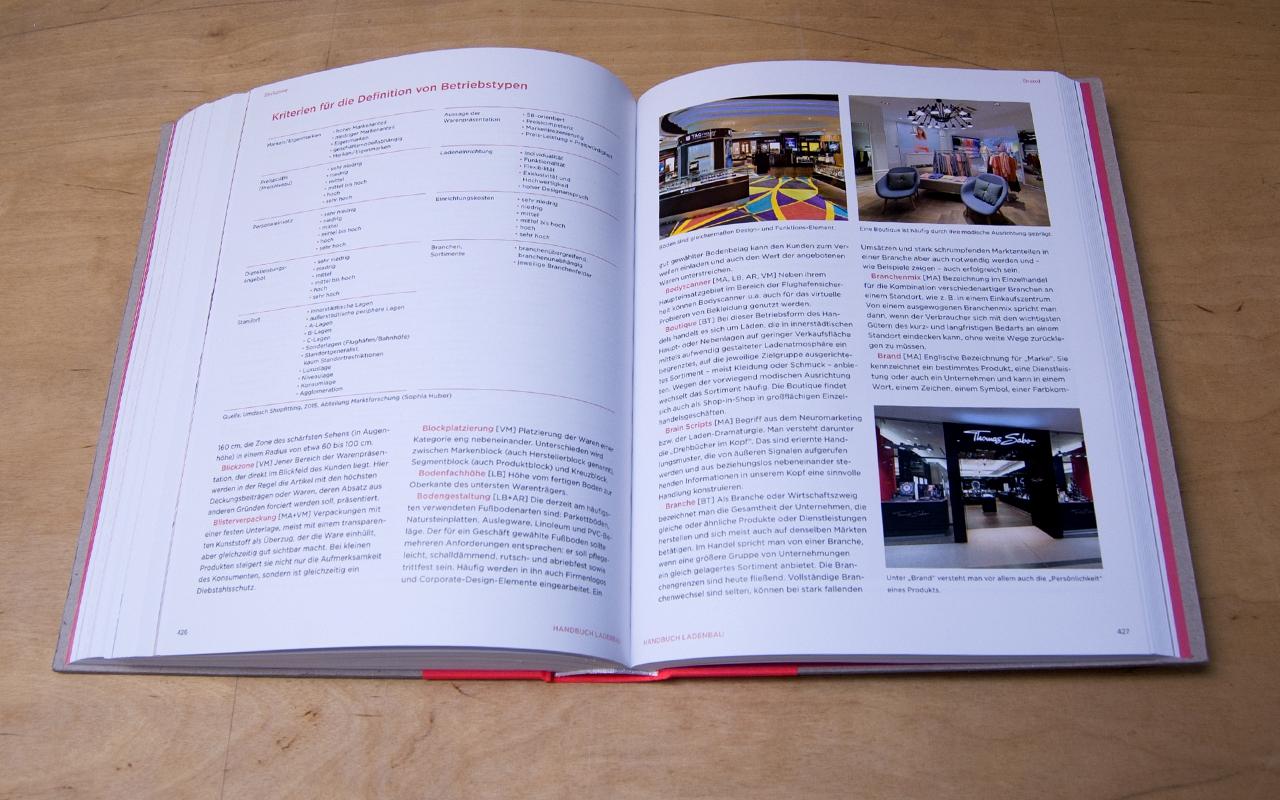 Jens Mittelsdorf - Büro für Gestaltung Handbuch Ladenbau → Editorial Design, Cover, Informationsgrafiken