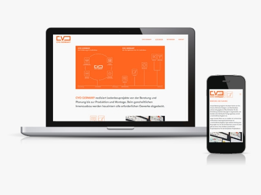 Jens Mittelsdorf Büro für Gestaltung CVO Germany → Webseite, Webdesign
