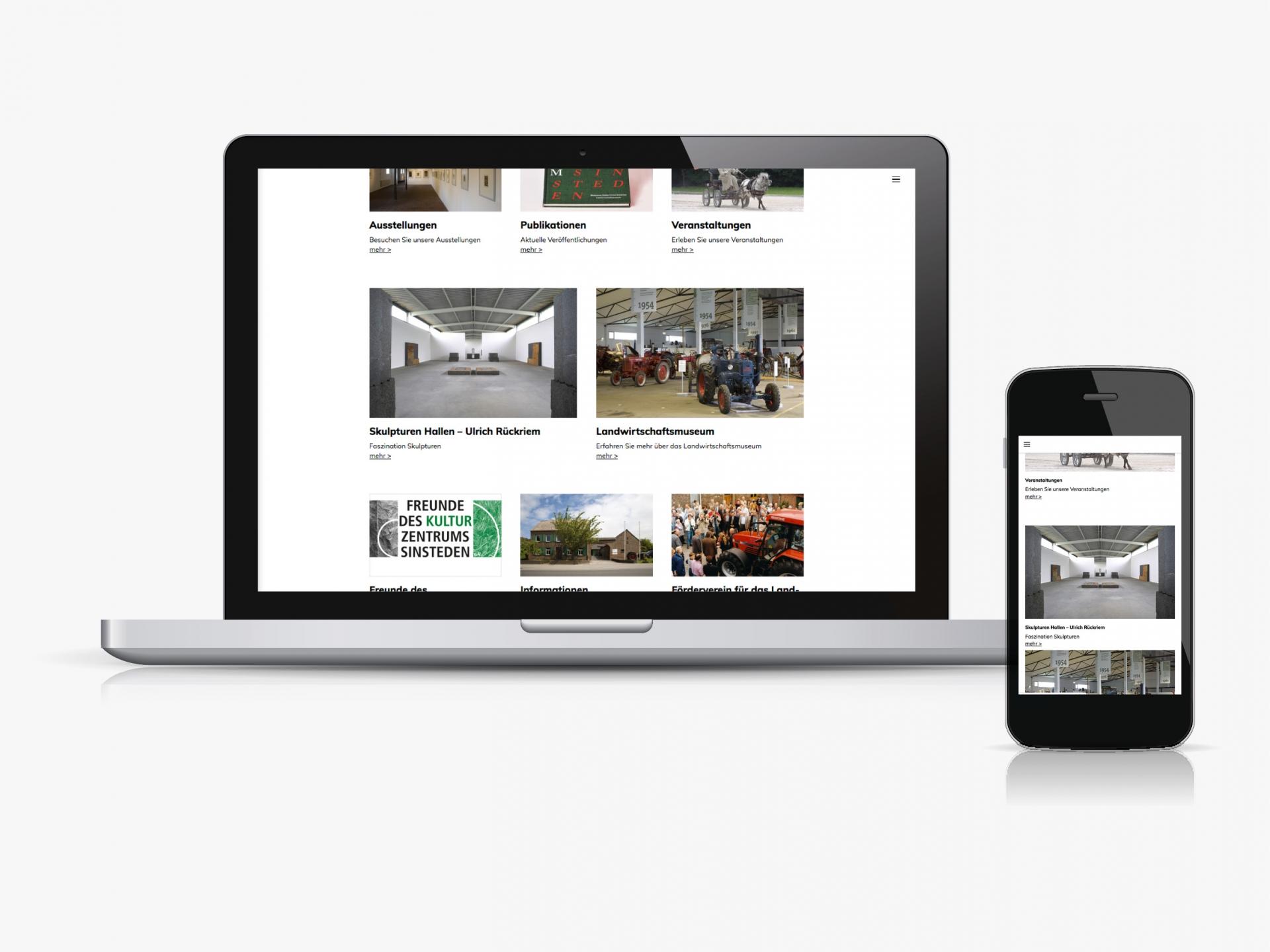 Jens Mittelsdorf - Büro für Gestaltung Kulturzentrum Sinsteden → Webdesign, Art Direction
