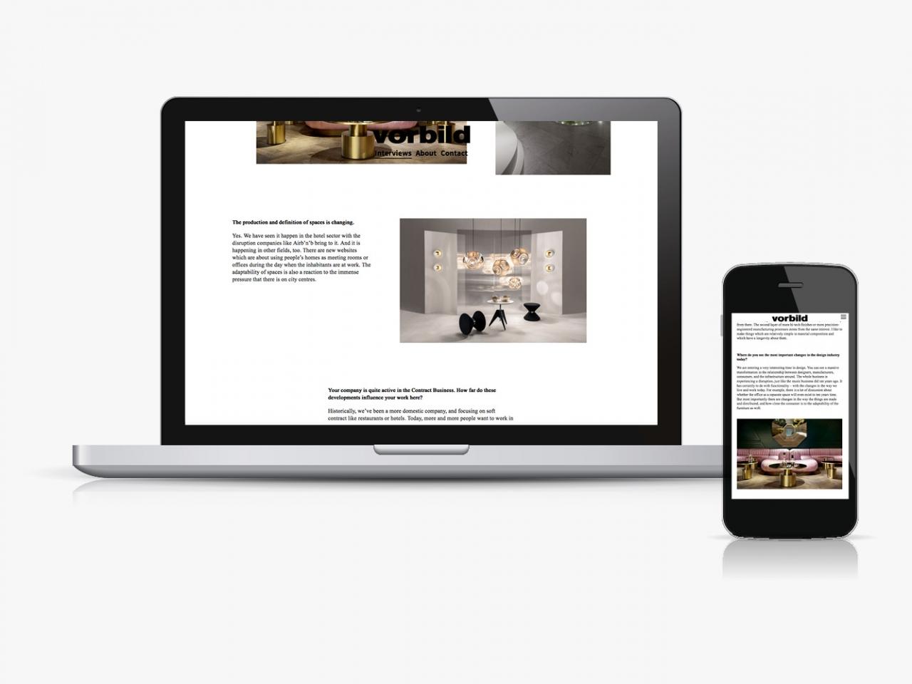 Jens Mittelsdorf Büro für Gestaltung Vorbild Magazine → Corporate Design, Webseite, Online Magazin