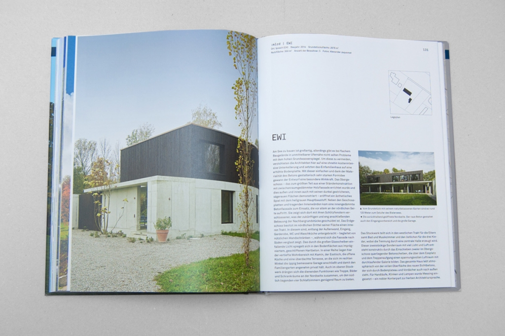 Jens Mittelsdorf Büro für Gestaltung Die besten Einfamilienhäuser aus Beton → Editorial Design, Typografie, Grafikdesign