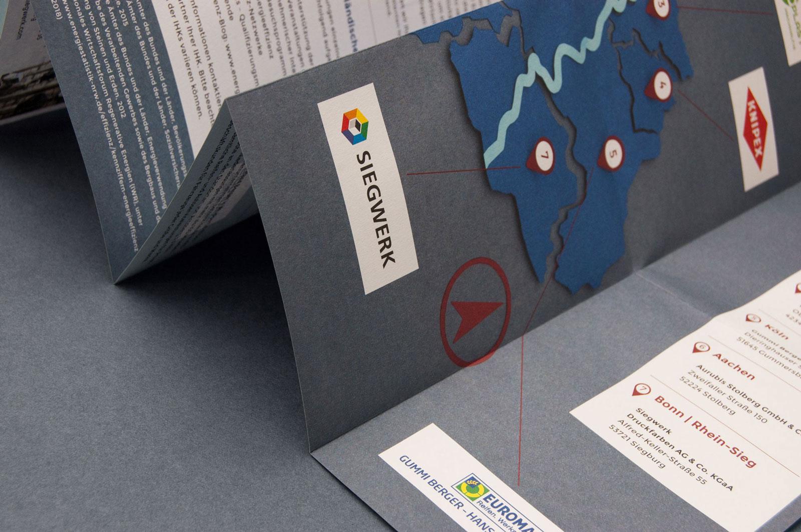 Designbüro Mittelsdorf Initiative Rheinland – Best Practice Energieeffizienz → Grafik Design, Broschüre, Paperart