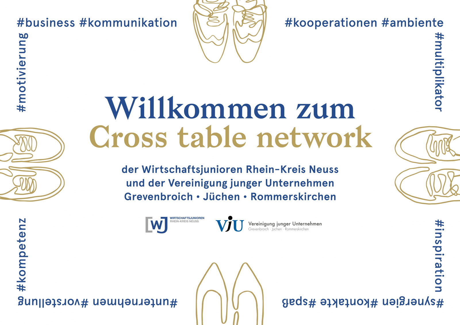 Designbüro Mittelsdorf Cross table network → Branding, Printmedien, Veranstaltung