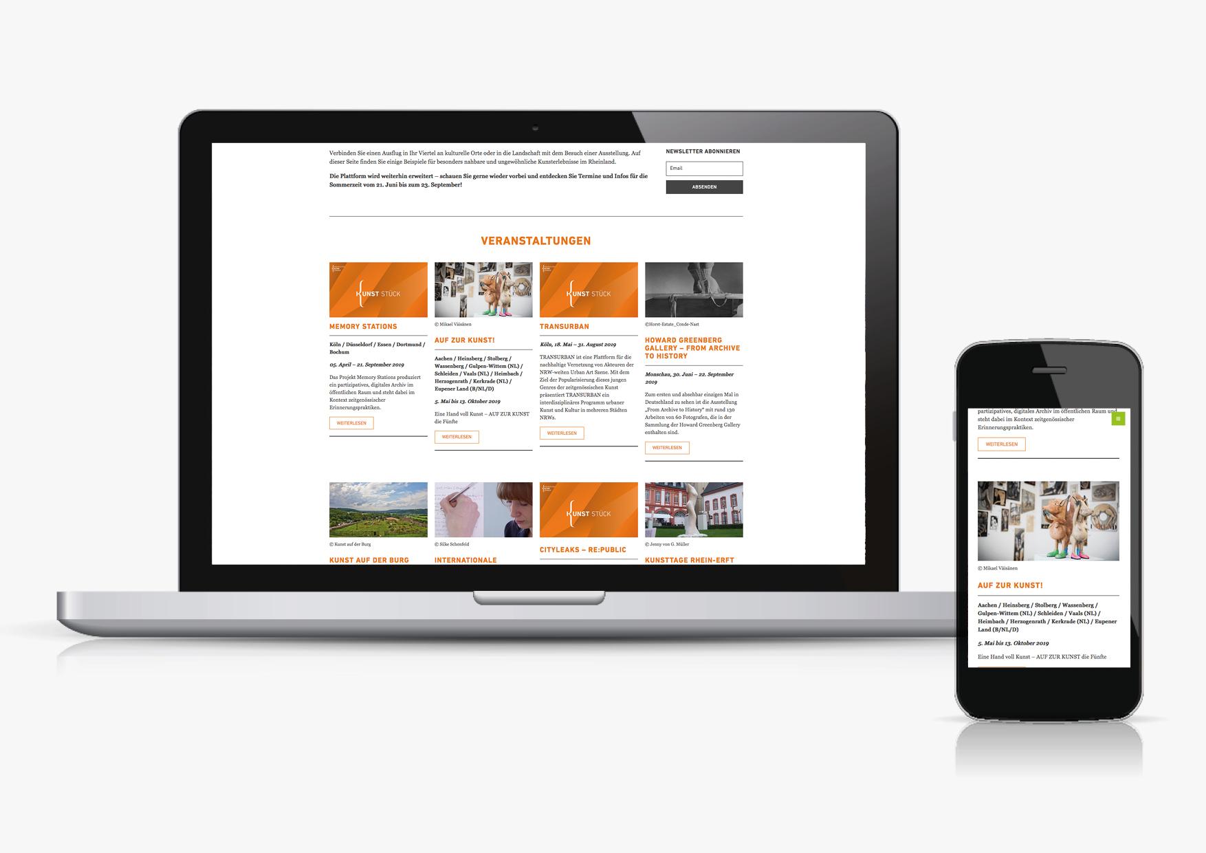 Designbüro Mittelsdorf Rheinischer Kultursommer → Webdesign, Grafikdesign, Art Direction