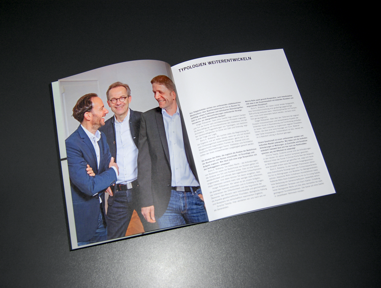 Designbüro Mittelsdorf Rübsamen Partner – Projekt-/Imagekatalog → Editorial Design, Typografie