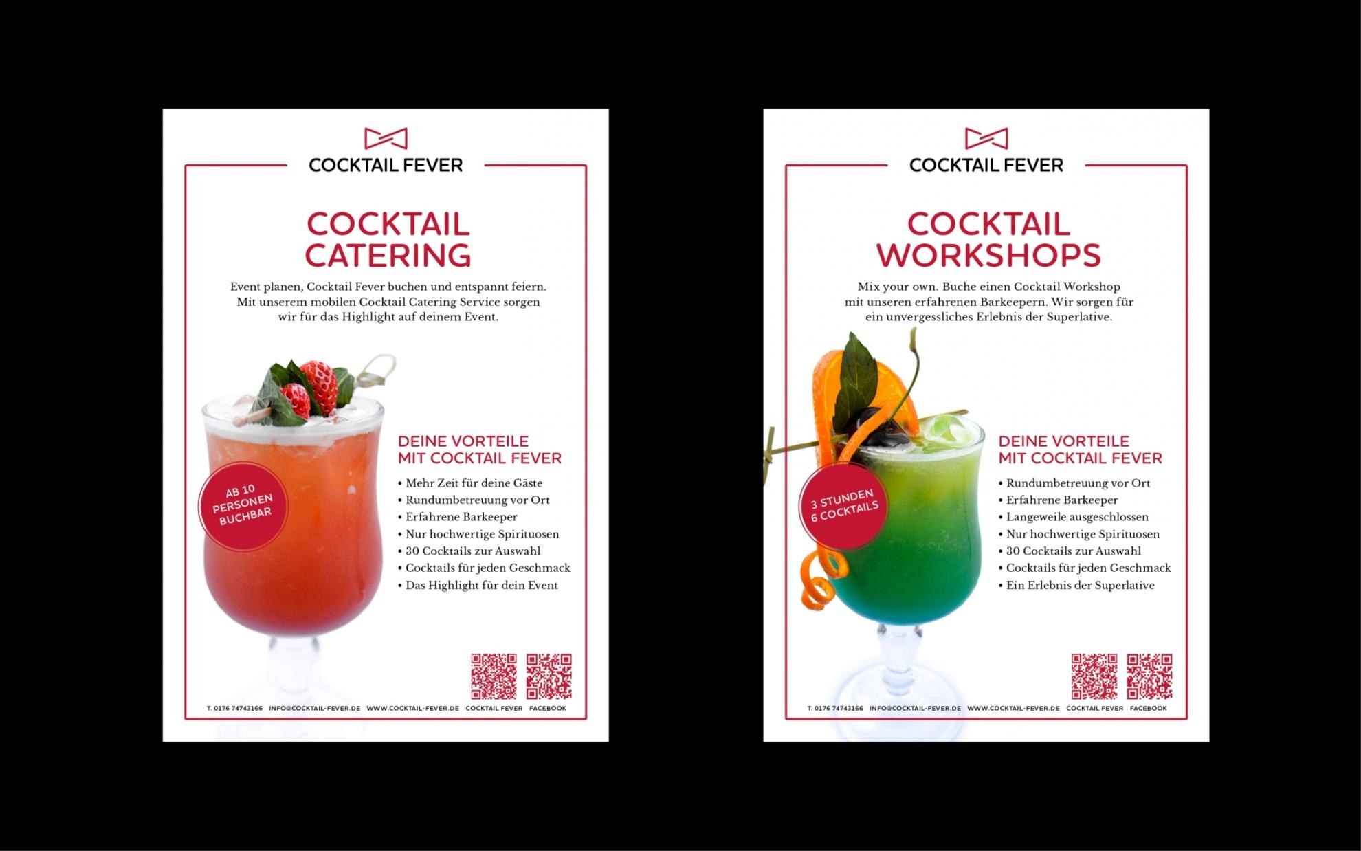 Designbüro Mittelsdorf Cocktail Fever → Corporate Design, Grafikdesign, Webdesign