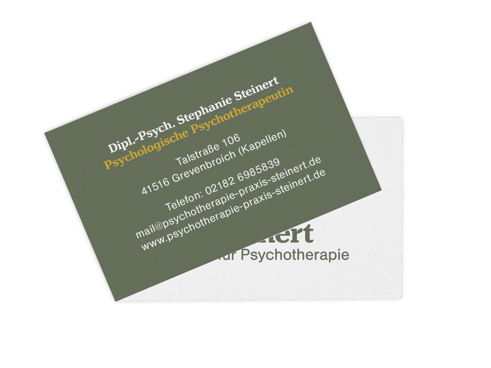 Designbüro Mittelsdorf Psychotherapie Steinert → Corporate Design, Webseite