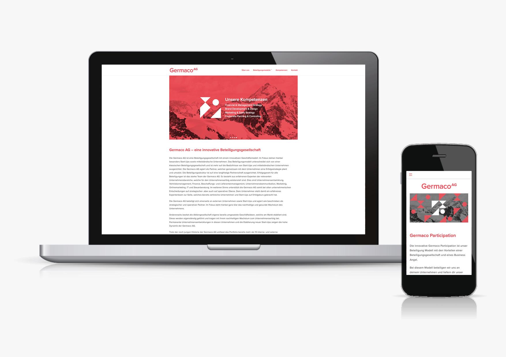 Designbüro Mittelsdorf Germaco AG→ Naming, Corporate Identity, grafisches System, Webseite